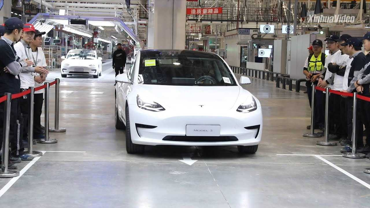 Tesla Model 3 (Source:  New China TV)