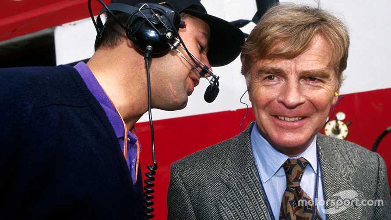 Nick Wirth, Simtek Team Principal talks with Max Mosley at San Marino GP 1994