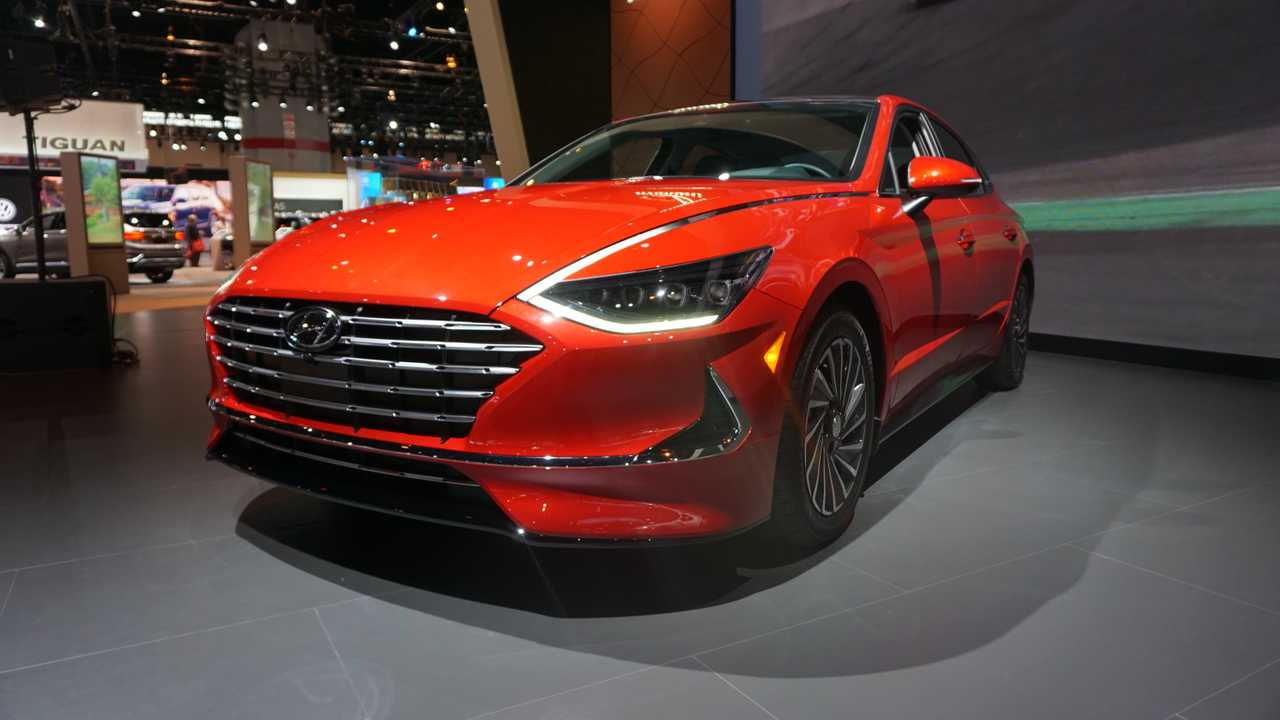 2020 Hyundai Sonata Hybrid at Chicago Auto Show