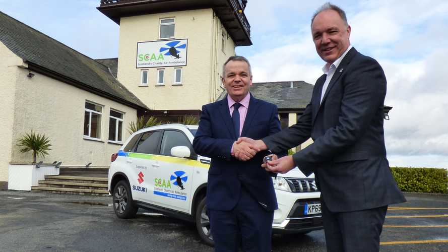 Suzuki gives Scottish air ambulance service a new set of wheels