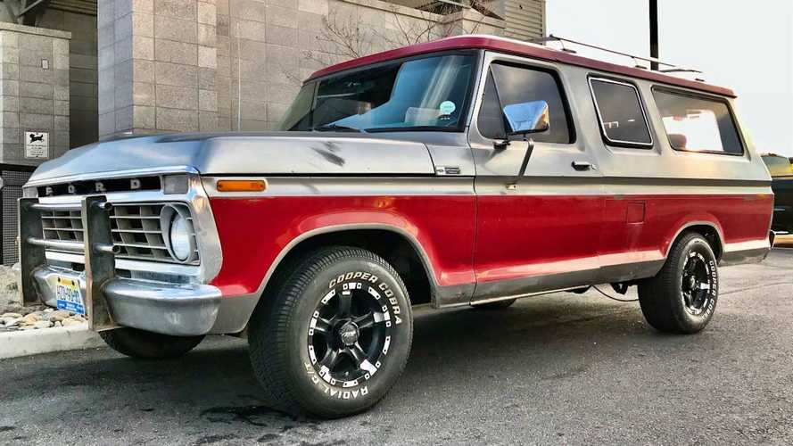 1975 Ford B-100 With Barn Doors Is The Quirky SUV You Can Buy