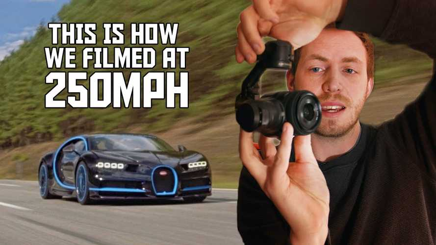 See how the Bugatti Chiron record-setting 249-mph run was filmed