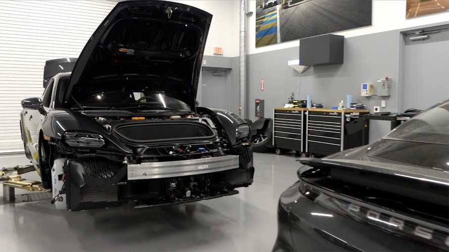 In-depth tour of Porsche Taycan battery tech, suspension, more