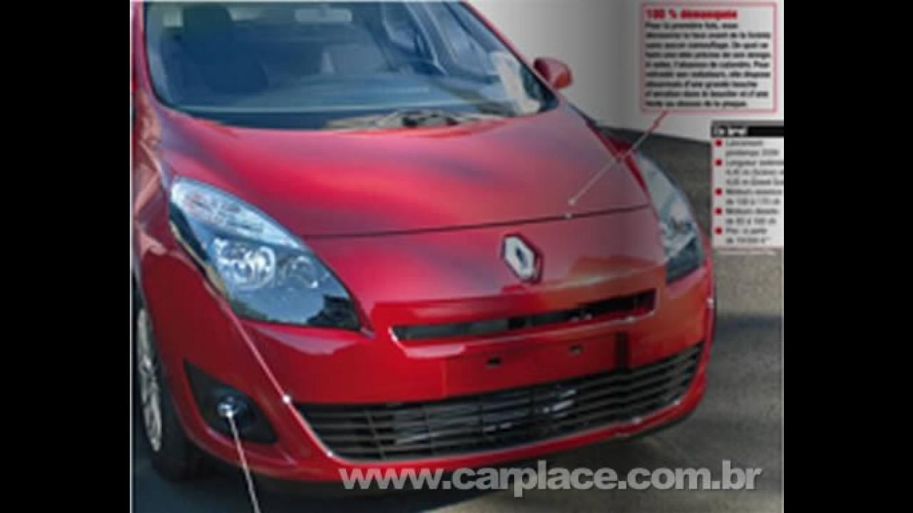 Revista francesa divulga imagens da nova geração da perua Renault Scénic