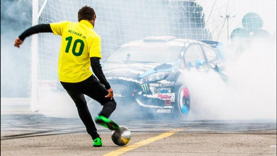 Neymar Jr. vs Ken Block: incredibile partita di calcio... con auto [VIDEO]