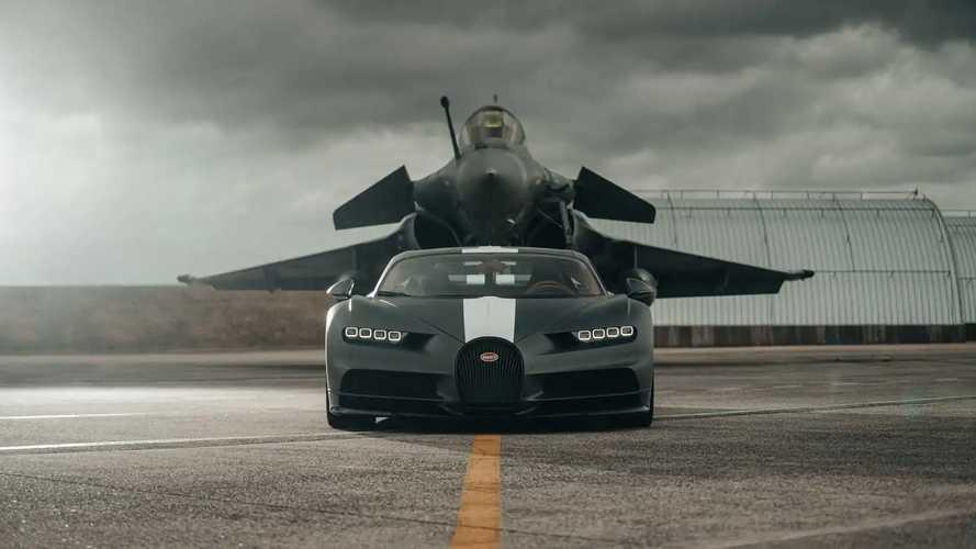 Bugatti Chiron vs Jet militare: chi ha vinto la sfida in pista?