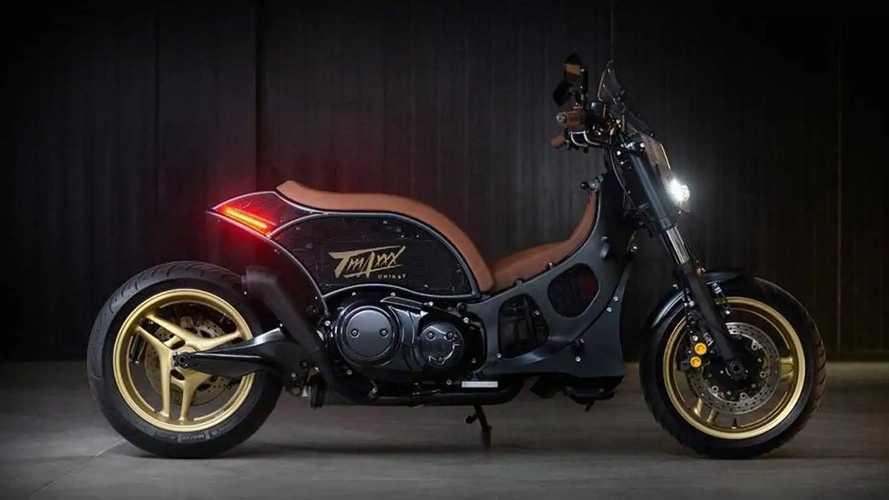 This Custom Yamaha TMAX Embraces Its Inner MT-09