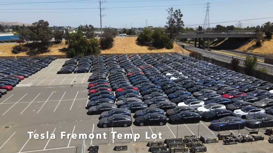 Hundreds Of New Tesla Model S Wait For Delivery At Temp Location