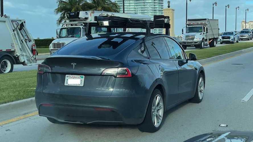 Tesla Model Y Is Spotted Testing LiDAR With Manufacturer Plates