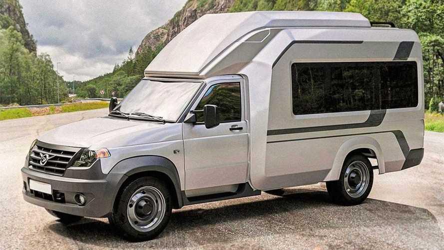 Автодом от УАЗа похвастает полноценной кухней и мебелью