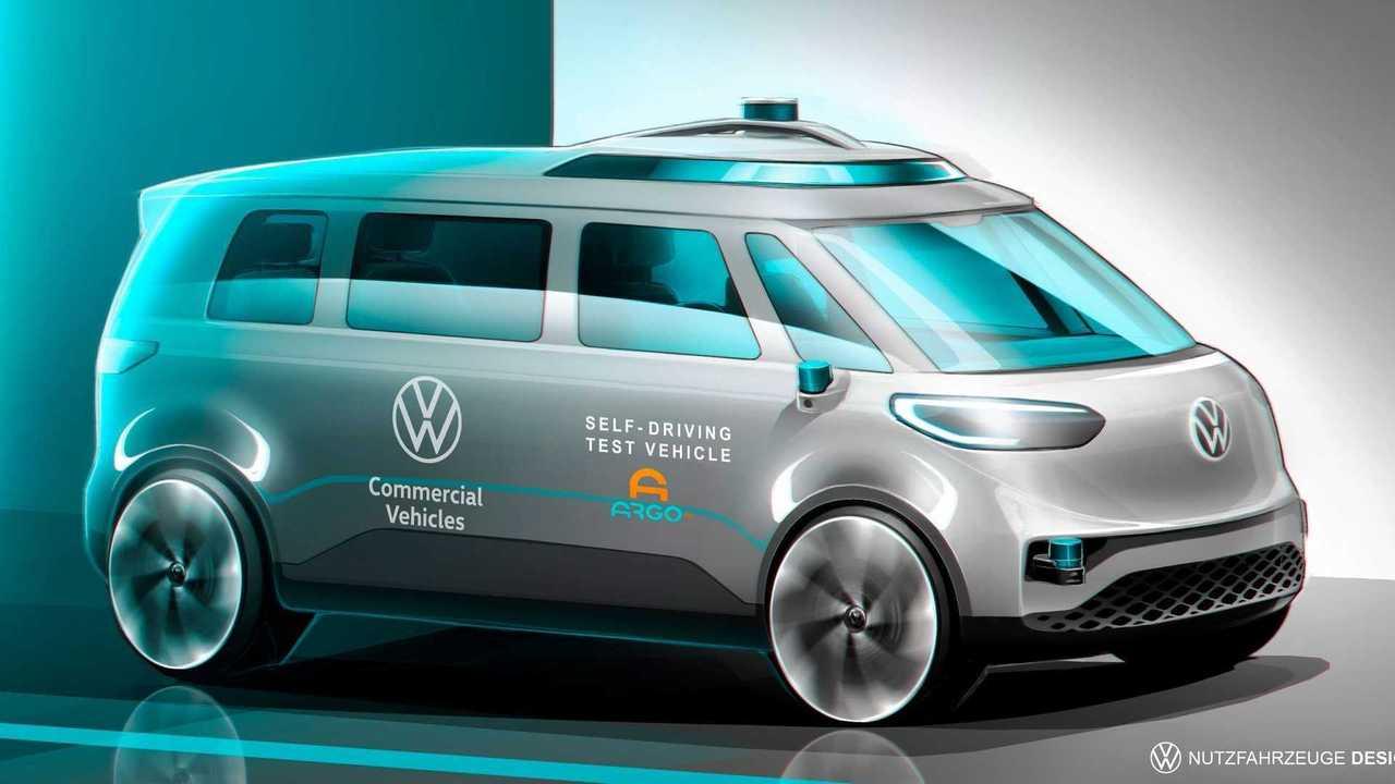 Die Serienversion des ID.Buzz soll als erstes Auto des VW-Konzerns autonom fahren.
