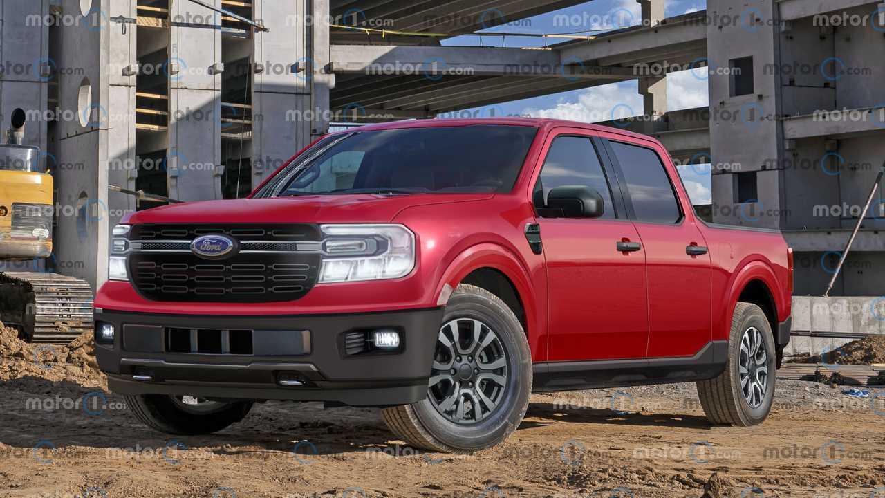 2022 Ford Maverick Rendering non ufficiale
