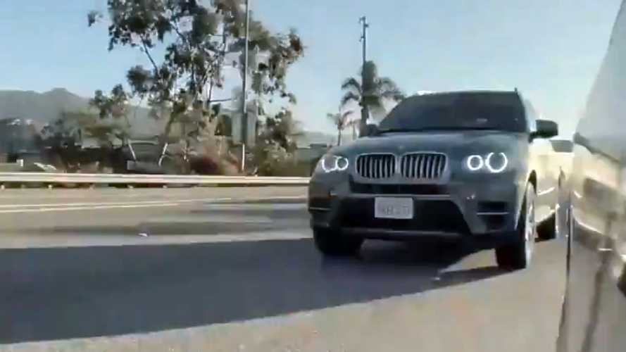 Autopilot save: Watch BMW X5 driver almost run Tesla Model 3 off the road