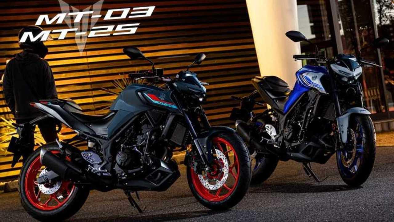 Yamaha MT-25 dan MT-03 yang diluncurkan di Jepang