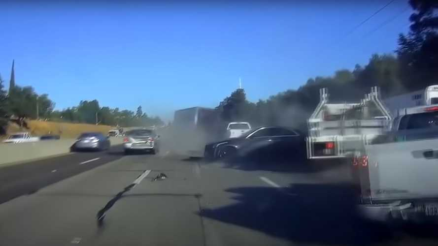 Dramatic footage of major crash shows how quickly things can go wrong