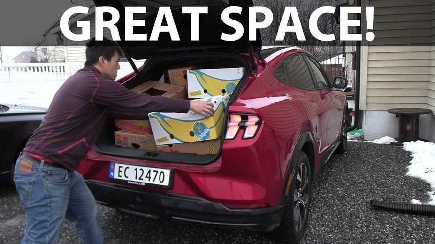Ford Mustang Mach-E Surprises In Bjorn's Banana Box Test