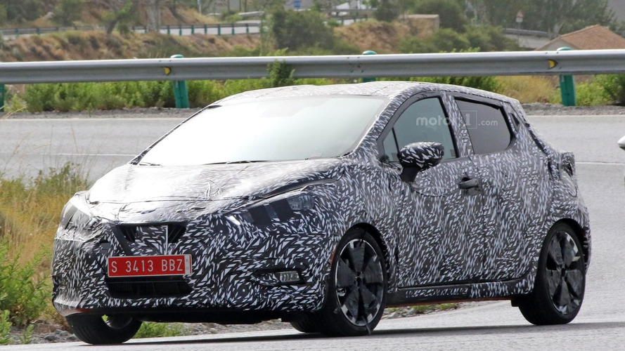 2017 Nissan Micra spy photos from southern Europe