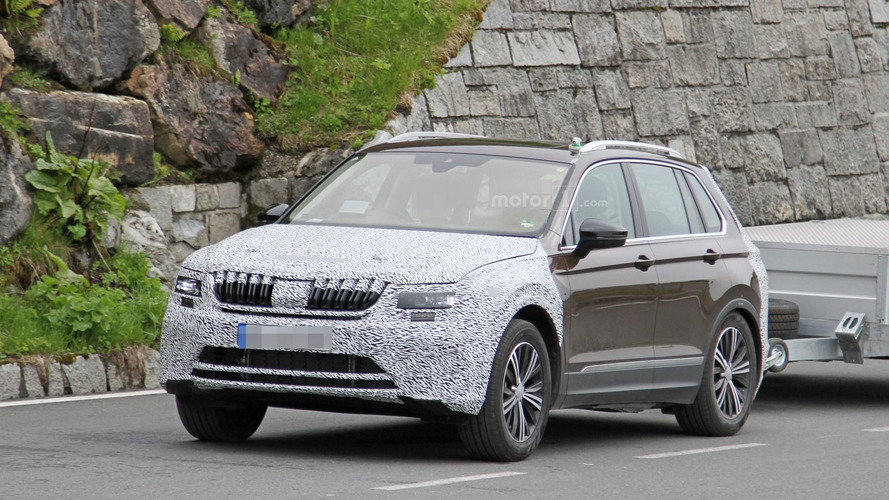 VW Tiguan with Skoda grille is probably the next-gen Yeti