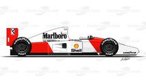 1992 - McLaren MP4/7