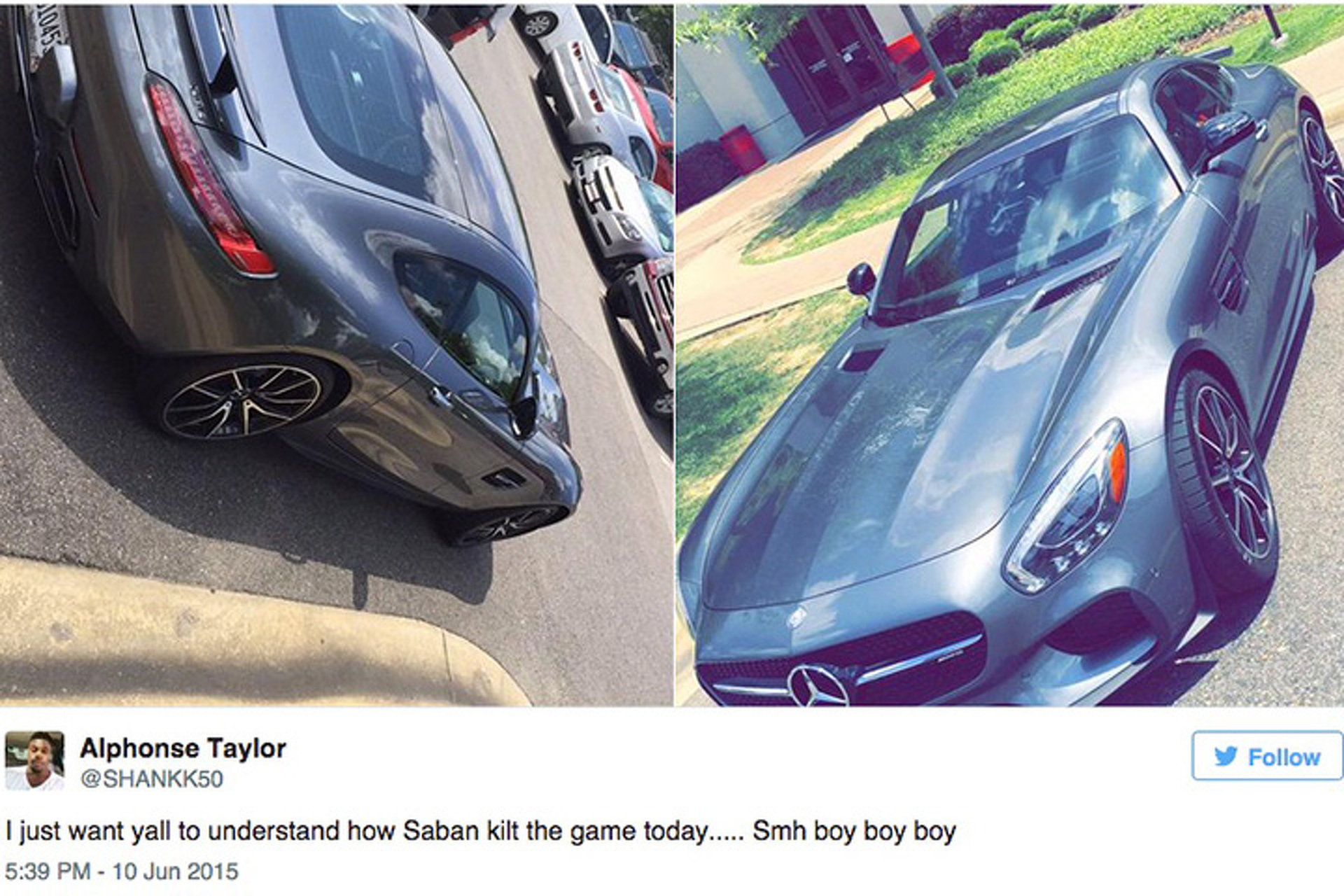 Nick Sabans Mercedes AMG GT S Shut Down Training Camp