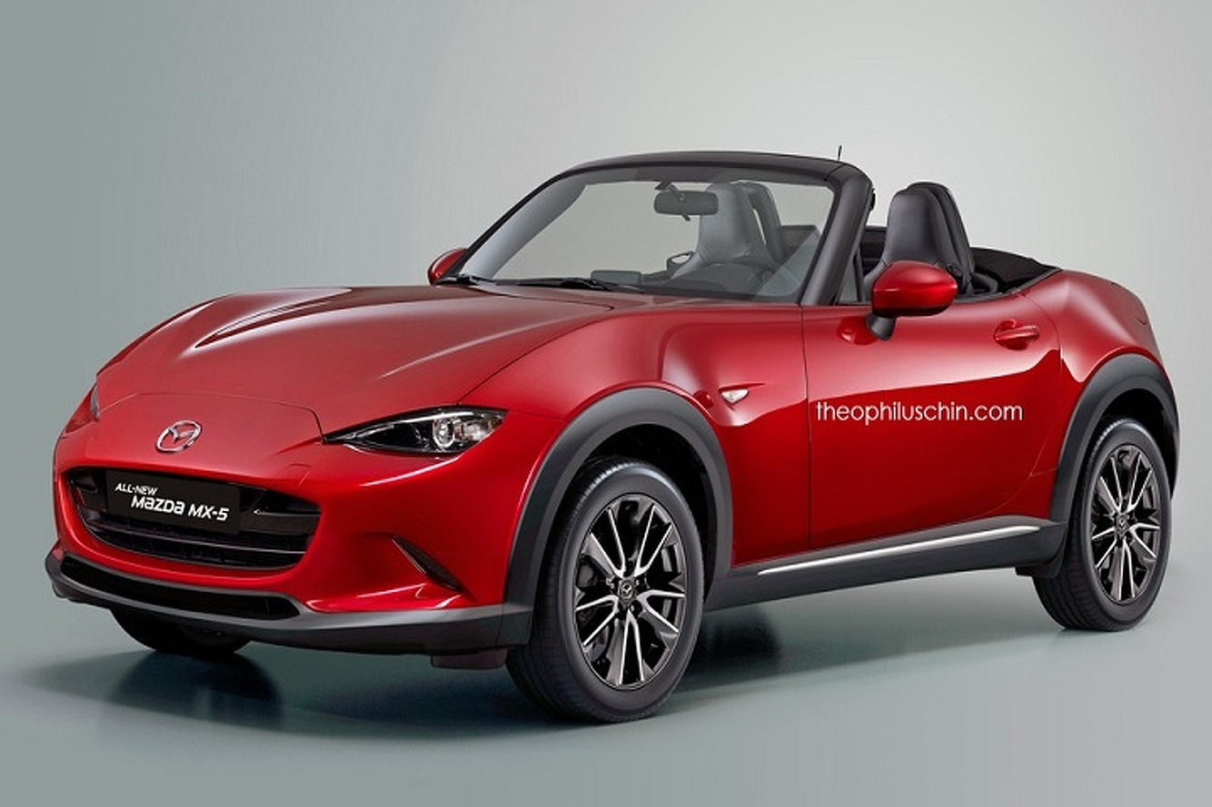 Mazda MX-5 Cross Rendering is a Freak of Nature