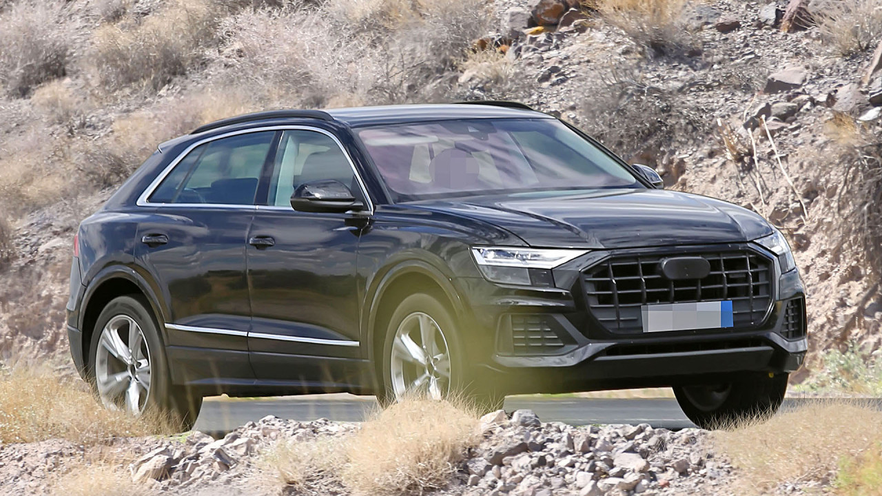 Audi Q8 ungetarnt erwischt