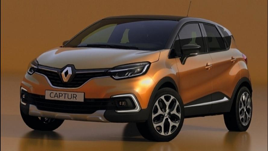 Renault Captur restyling, le prime foto