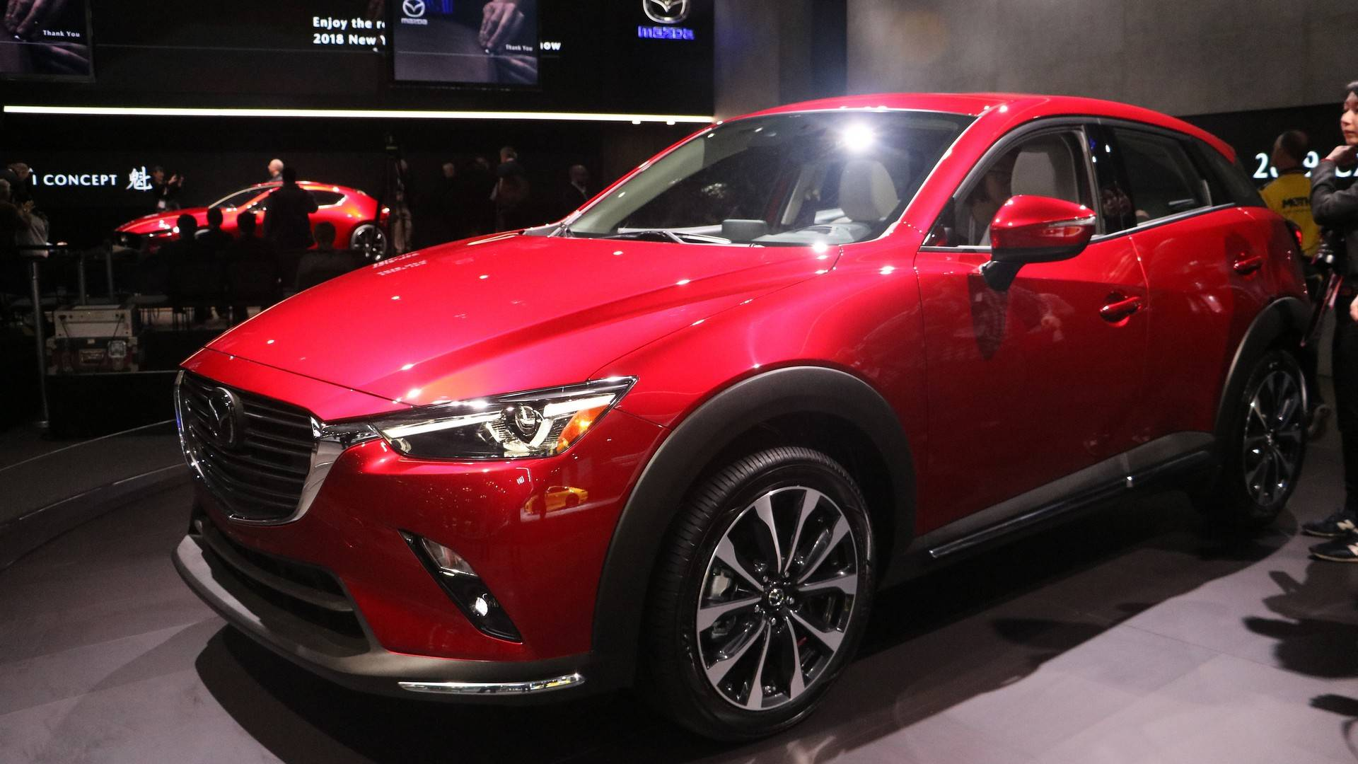 Mazda CX Debuts With HP And Improved Interior - Jacob javits center car show 2018