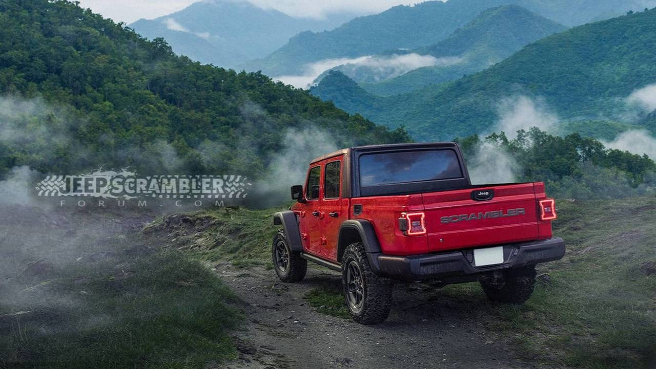 2020 Jeep Scrambler Render Looks Ready For The Real World Wrangler Pickup Concept Rendering