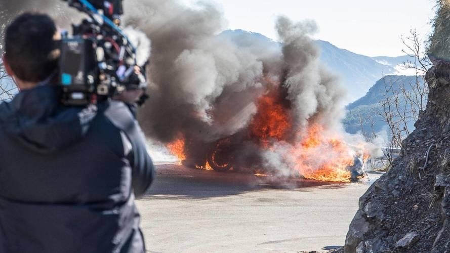 Szénné égett egy Alpine A110 a Top Gear forgatásán