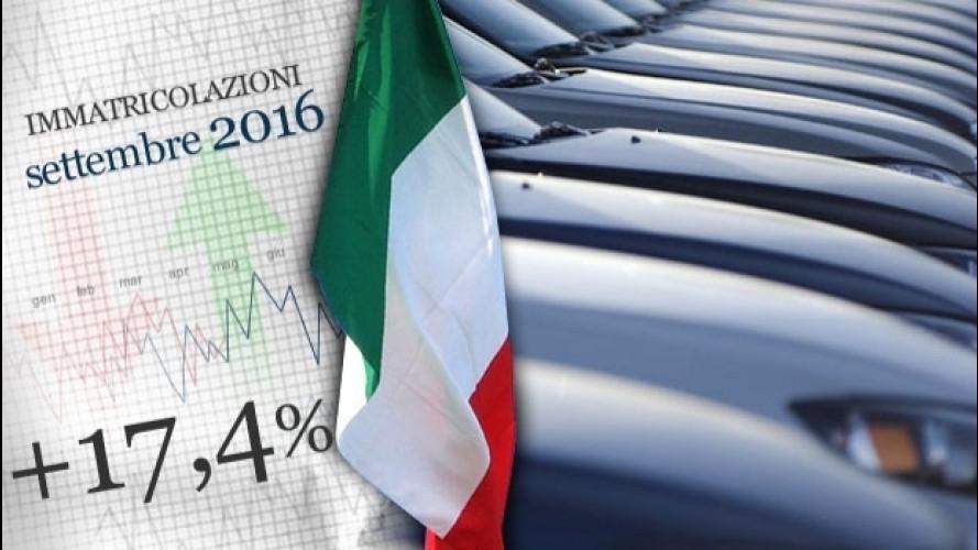 Mercato auto, settembre in crescita a doppia cifra