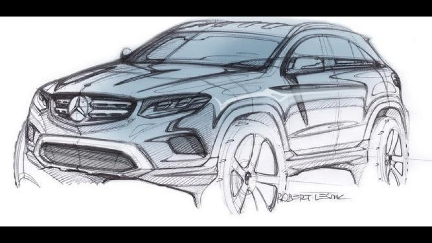 Mercedes-Benz revela esboço do novo GLC, substituto do GLK