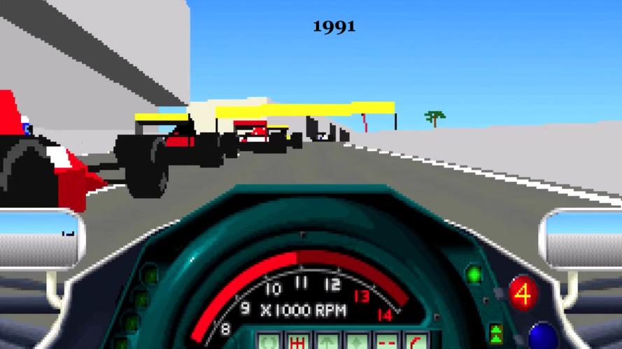 F1 yarış oyunlarının 40 yıl içindeki inanılmaz değişimi