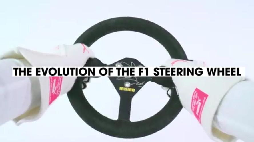 3 dakikada 1958'den günümüze Formula 1 direksiyon simitleri!