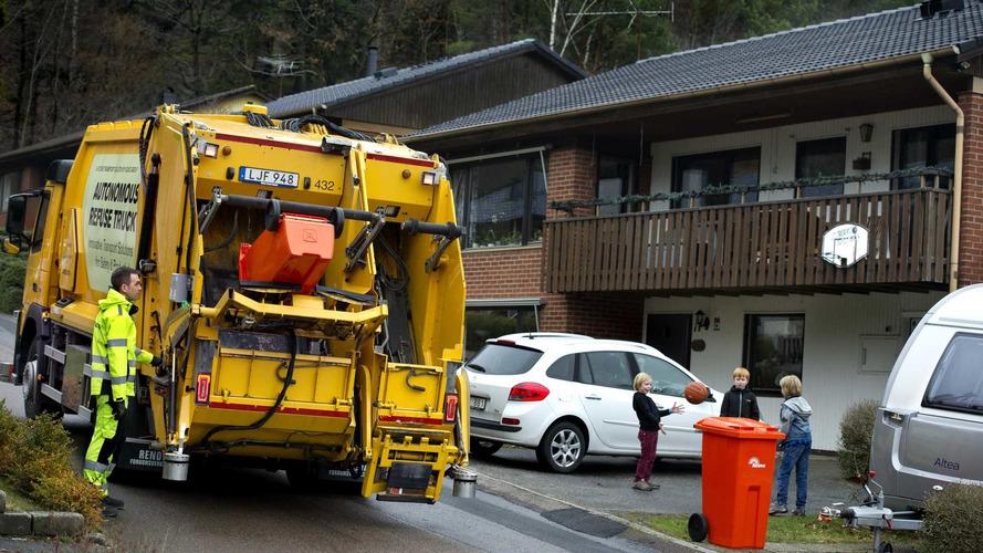Mira cómo funciona el camión de la basura autónomo de Volvo