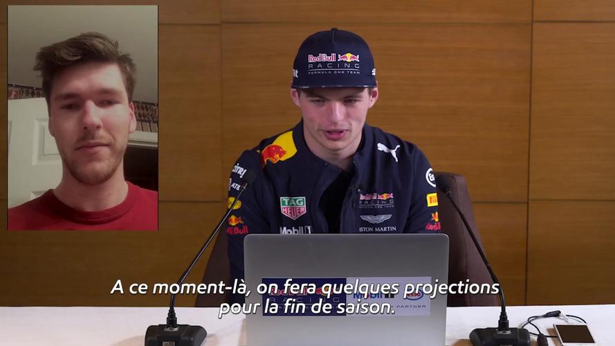 VIDEO – Max Verstappen répond à ses fans en FaceTime