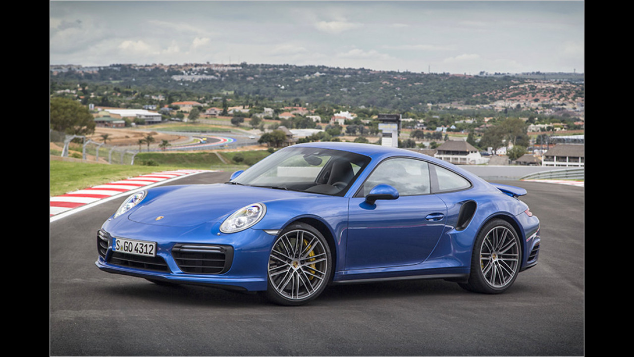 Platz 2: Der Porsche 911 Turbo S mit 580 PS