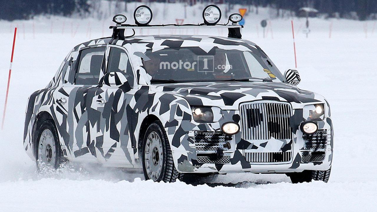 Mysterious limousine prototype spy photo