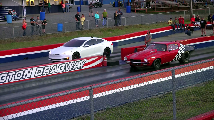 Do Drag Radials Make A Gutted Tesla Model S P100D Even Quicker?