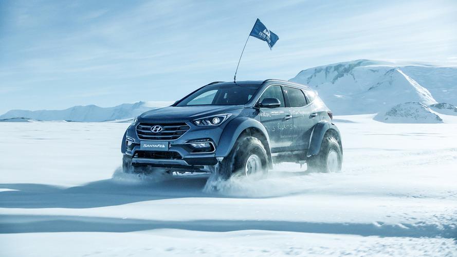 Átszelte az Antarktiszt az alig módosított Hyundai Santa Fe