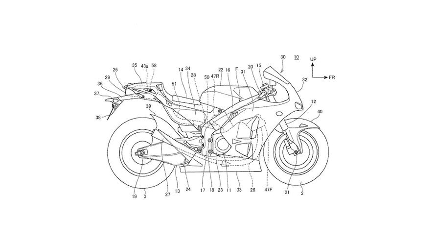 Honda Underseat Motorcycle Exhaust Patent Hints At V4 Supersport