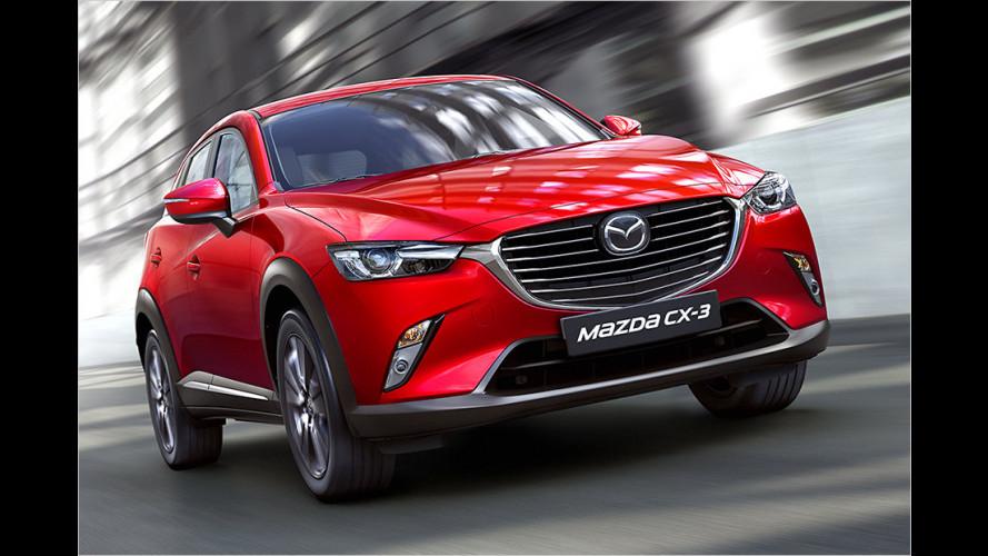 Mazda überarbeitet den 2 und den CX-3 (2017)