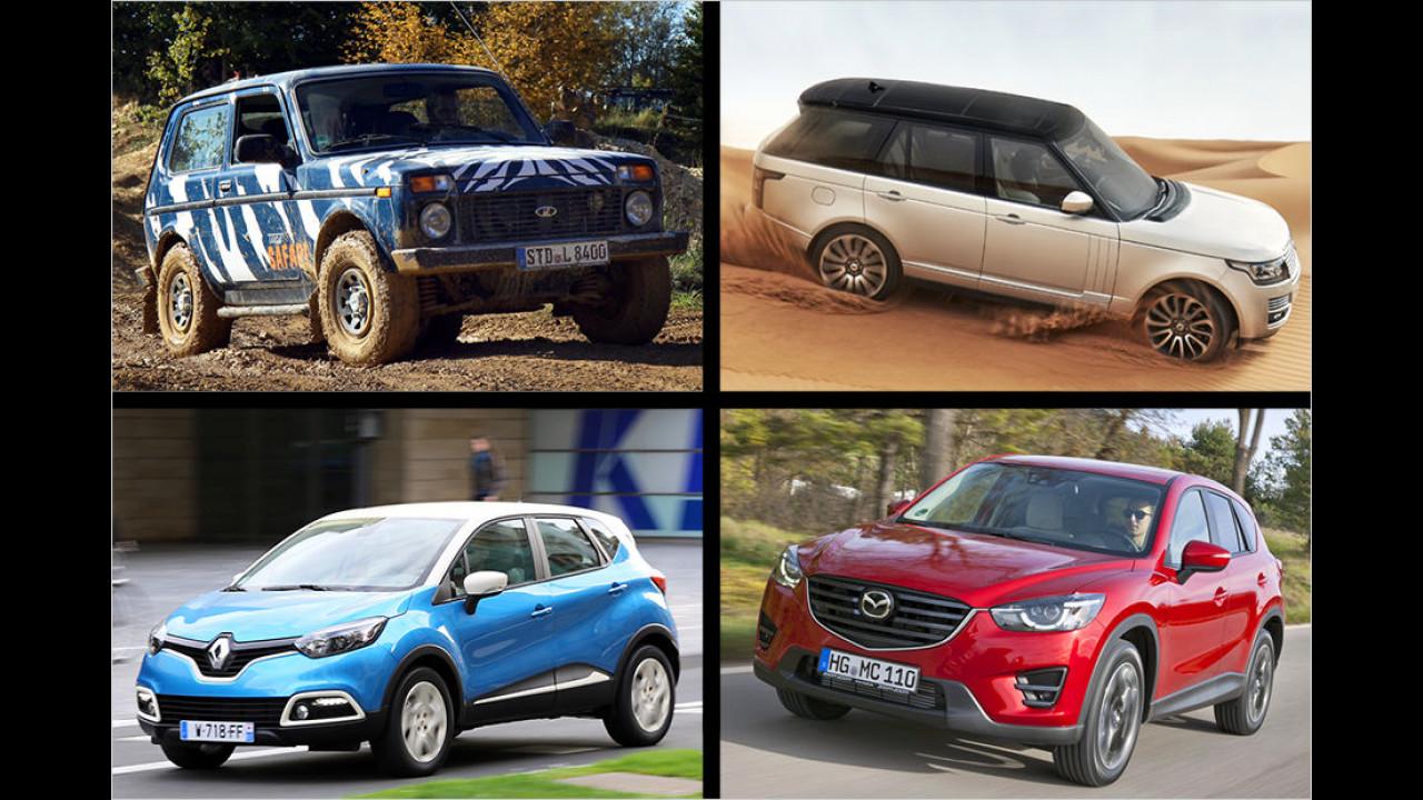 SUVs und Geländewagen