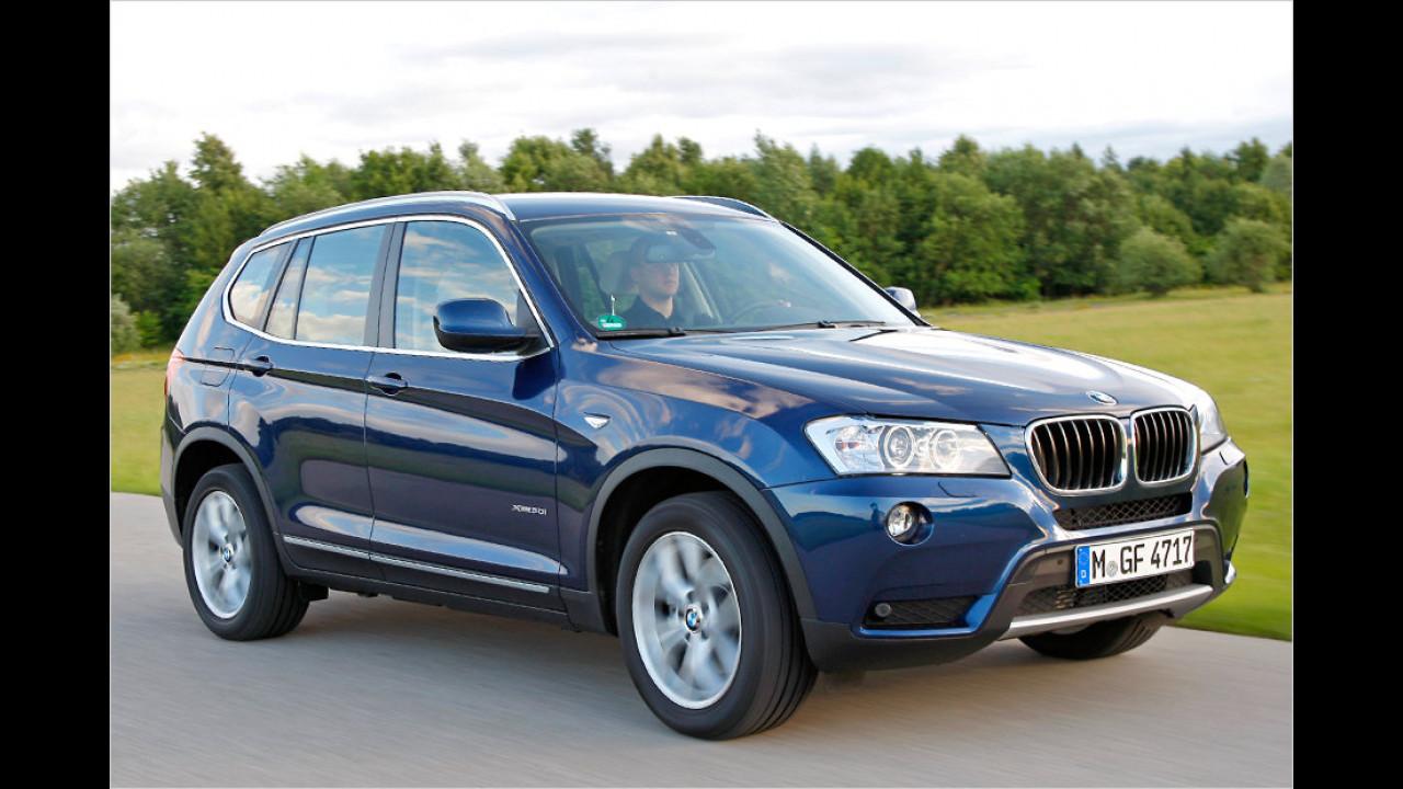 Top 1 bei Frauen: BMW X3 (81,5 Punkte)