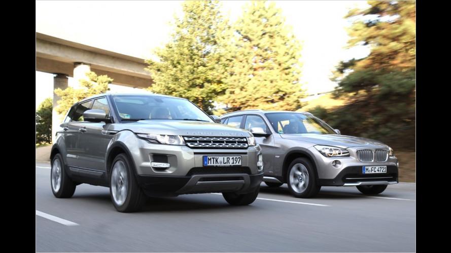 BMW X1 und Range Rover Evoque im Vergleichstest