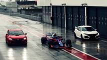 Civic Type R Pierre Gasly et Brendon Hartley