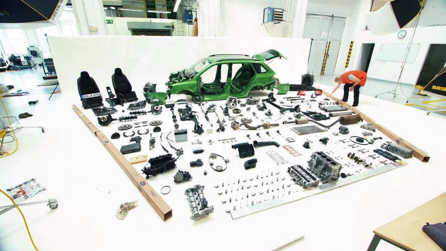 Watch Skoda Dismantle Fabia Combi Down To The Last Bolt