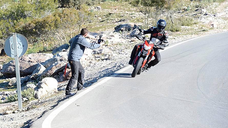 Jamie Robinson does the Ducati Hypermotard