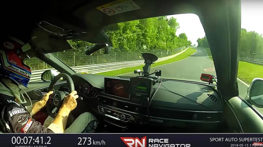 Hop inside the Audi RS4 Avant while it laps the Nürburgring