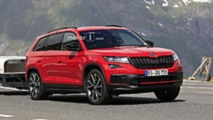 Skoda Kodiaq RS Photos espion